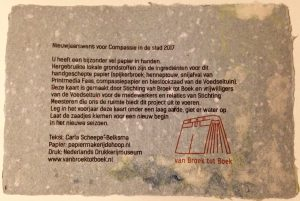 handmade paper for compassion in the city Rotterdam