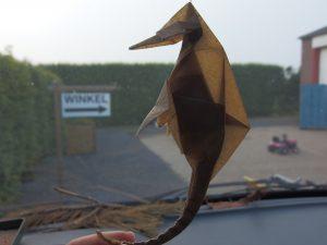 origami zeepaardje van Joan Sallas