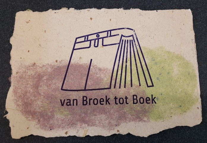 logo op handgeschept papier